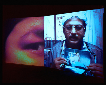 Tejal Shah – What are You? - Installation view from What are You? Installation with two channel video; color, sound. 11 min.