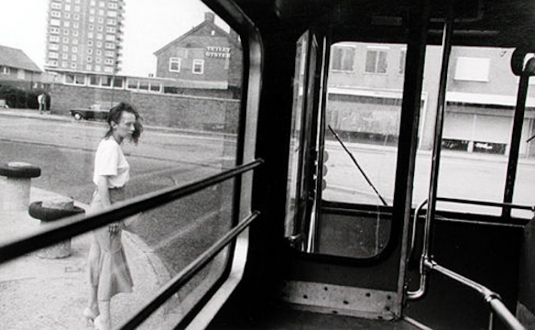Tom Wood – The Bus Project - Croxteth, 1986. B/W print, 9.5 x 14 in, edition of 6 (+1 AP).