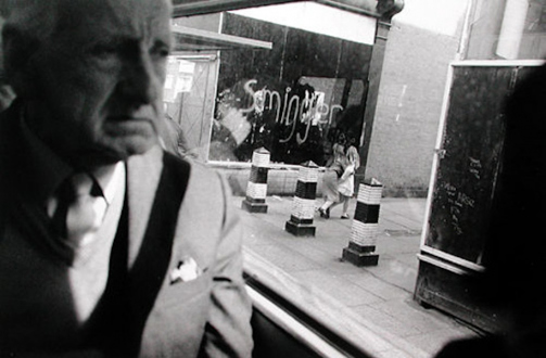 Tom Wood – The Bus Project - Kensington, 1988. B/W print, 12 x 17.5 in, edition of 6 (+1 AP).