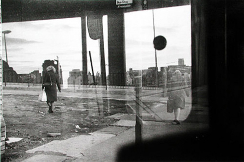 Tom Wood – The Bus Project - St. Anne's Street - City Centre, 1988. B/W print, 6.5 x 10 in, edition of 6 (+1 AP).