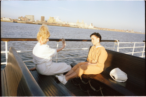 Tom Wood – Men and Women - Mirror Mersey, 1989. C-print, edition of 7 (+2 AP).