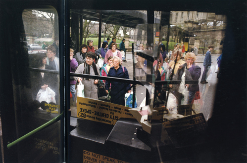 Tom Wood – The Bus Project - Hood Street Gyratory - City Centre, 1993. C-print, 12 x 18.5 in, edition of 6 (+1 AP).