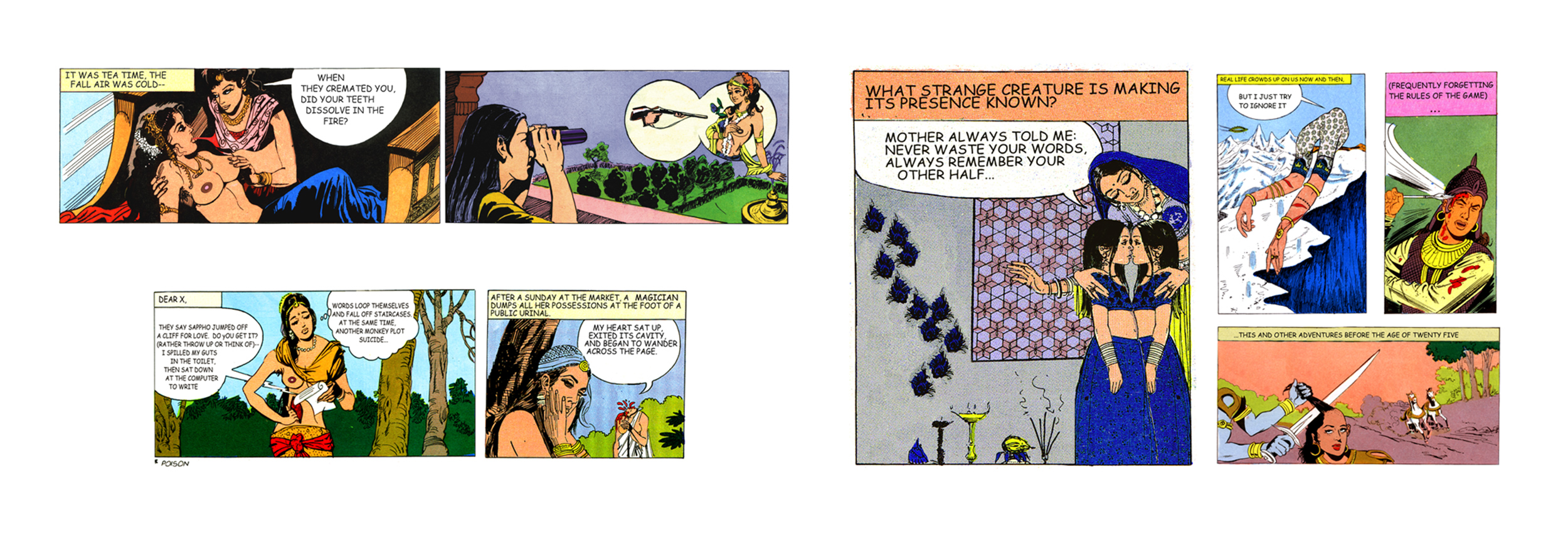 Editions from Tales of Amnesia - <i>Triptych II (Tea time - Dear X, my heart - Mother always told</i>   from <i>Tales of Amnesia</i>), 2002/07. Digital C-prints, edition of 5 (+1 AP).