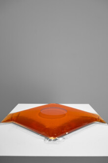 Water Compositions - <i>Water Composition (orange)</i>, 1969/70 (2018) (Water Compositions) Heat sealed vinyl and coloured water 38 ¼ × 15 ¾ × ⅞ inches (97.16 × 40.01 × 2.22 cm) Edition of 2 plus I AP