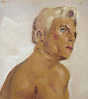 15 Years Thomas Erben - Vincent Geyskens, Management, 2000/01. Oil on canvas, 18 x 16 in.