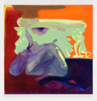 Middle European Mysticism - Viktorie Langer, <i>Keeping Distance</i>, 2019. Oil on primed cotton canvas, 40 x 40 cm.