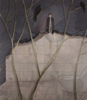 Chen Ke – Li Jikai – Wei Jia - Wei Jia, Say Good-bye, 2007. Acrylic on canvas. 87 x 75 in.