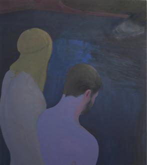 Soft Haze – Xinyi Cheng, Nabuqi, Ali Van - Xinyi Cheng, Swimming Hole, 2015. Oil on linen, 37 x 31 in.