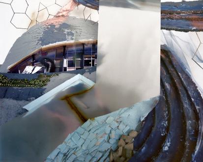 Yamini Nayar – Head Space - Cascading Attica, 2011. C-print, 40 x 50 in, edition of 5 (+2 AP).