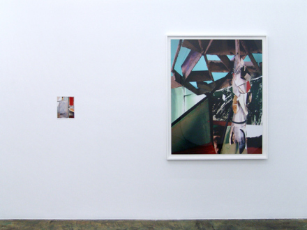 Yamini Nayar – an axe for a wing-bone - Chrysalis, 2013. C-print, diptych, 8 x 10 and 50 x 40 in respectively, edition of 5 (+2 AP).