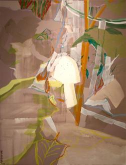 Pia Maria Martin, Haeri Yoo, Yuh-Shioh Wong - Yuh-Shioh Wong: The Origin 2006. Pigment on canvas, 40 x 30 in.