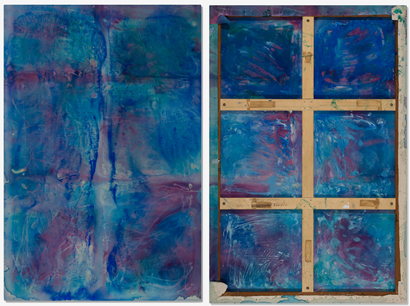 in situ - <i>My Home IV</i>, 2001. Cheesecloth and acrylic mediums on canvas, 90 x 60 in.