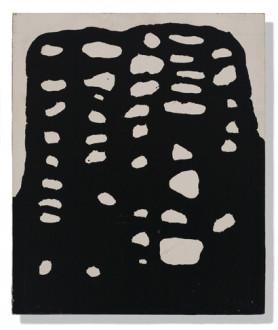 in situ - <i>No Title</i>, 1973. Enamel on masonite, 14 x 11.75 in.