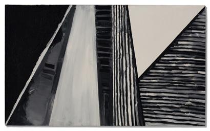 in situ - <i>No Title</i>, 1977. Oil on canvas, 24 x 40 in.