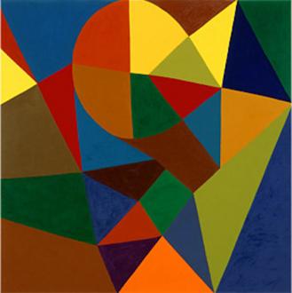 "Harriet Korman - Untitled, 2001, 60 x 60"", oil on canvas"