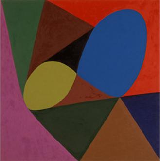"Harriet Korman - Untitled, 2001, 54 x 54"", oil on canvas"