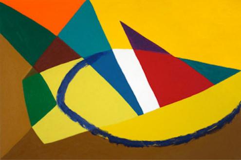 "Harriet Korman - Untitled, 2007, 24 x 36"", oil on canvas"