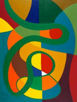 "Harriet Korman - Untitled, 2005, 48 x 36"", oil on canvas"