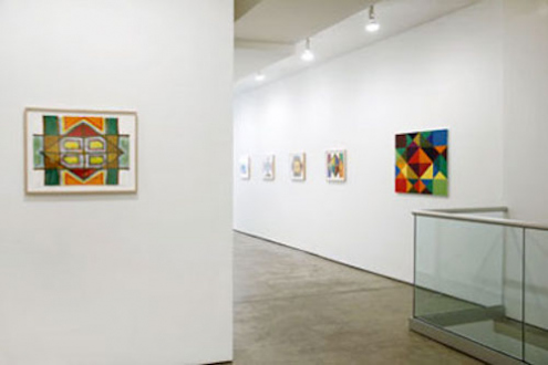 Line or Edge, Line or Color: New Paintings and Drawings - Installation view from: