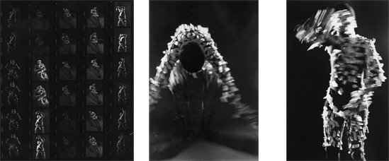 Performance Photographs - <i>Masked Taping</i> 1978-79. Silver gelatin print, 40 x 30 in, edition of 5 (+1 AP). Small pieces of masking tape, my body Los Angeles Photo: Adam Avila