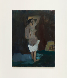 Thomas Erben Gallery – 25 years - Janice Nowinski, <i>Woman Looking Back</i>, 2017. Oil on canvas, 14 x 11 in.